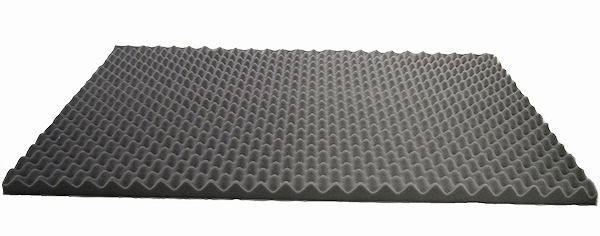 Acoustic convoluted sound proofing sheet
